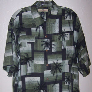 TOMMY BAHAMA 100% SILK HAWAIIAN CAMP SHIRT S3403